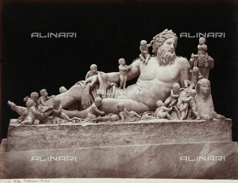 AVQ-A-000039-0071 - The Nile, New Wig, The Chiaramonti Museum, Vatican Museum, Vatican City - Data dello scatto: 1870 ca. - Archivi Alinari, Firenze