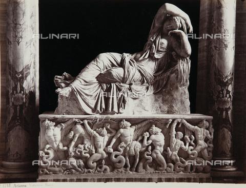 AVQ-A-000039-0072 - Sleeping Arianna, Pio Clementino Museum, Vatican Museum, State of Vatican City, Rome - Data dello scatto: 1870 ca. - Archivi Alinari, Firenze