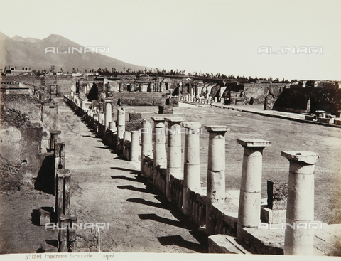 AVQ-A-000039-0101 - A view of the forum of Pompeii - Data dello scatto: 1870 ca. - Archivi Alinari, Firenze