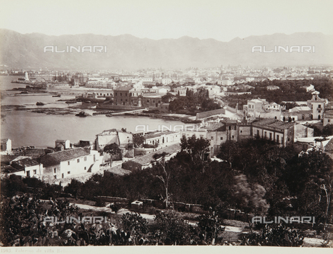AVQ-A-000039-0116 - View of Palermo from Villa Belmonte - Data dello scatto: 1870 ca. - Archivi Alinari, Firenze