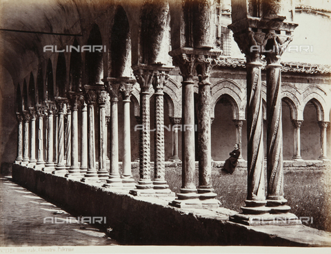 AVQ-A-000039-0121 - Cloister of Monreale - Data dello scatto: 1870 ca. - Archivi Alinari, Firenze