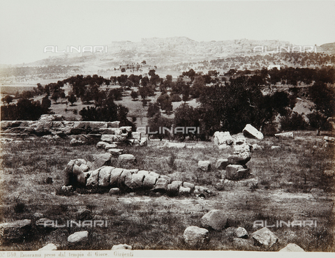 AVQ-A-000039-0129 - Ruins of the Temple of Jupiter in the Valley of the Temples in Agrigento - Data dello scatto: 1870 ca. - Archivi Alinari, Firenze