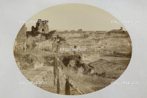 AVQ-A-000073-0009 - Roma: Veduta del Palatino con il Palazzo dei Cesari - Data dello scatto: 1857 - Raccolte Museali Fratelli Alinari (RMFA), Firenze