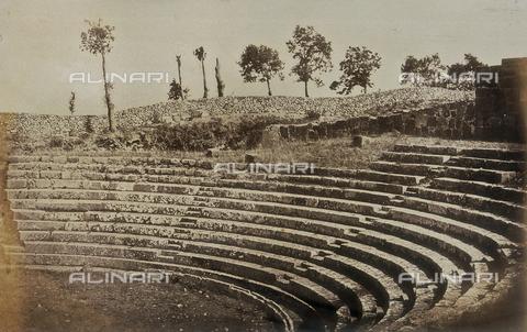AVQ-A-000073-0022 - Teatro romano di Tusculum - Data dello scatto: 1862 - Raccolte Museali Fratelli Alinari (RMFA), Firenze