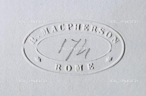 AVQ-A-000073-032T - Timbro a secco di Macpherson - Data dello scatto: 1862 - Raccolte Museali Fratelli Alinari (RMFA), Firenze