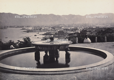 "AVQ-A-000075-0001 - ""Panorama from the Villa Belmonte with the fountain. Palermo"" - Data dello scatto: 1865 ca. - Archivi Alinari, Firenze"