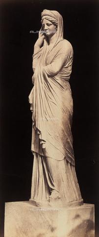 AVQ-A-000089-0010 - Photographic pictures of Rome: statua di Livia, collocata nel Braccio Nuovo dei Musei Vaticani - Data dello scatto: 1862 - Raccolte Museali Fratelli Alinari (RMFA), Firenze