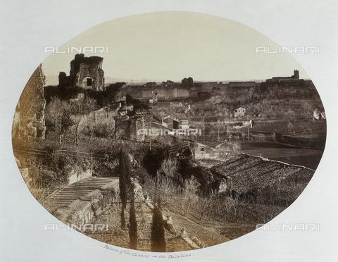 AVQ-A-000089-0020 - Veduta generale dei resti del Palazzo dei Cesari sul Colle Palatino - Data dello scatto: 1862 - Raccolte Museali Fratelli Alinari (RMFA), Firenze