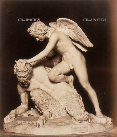 AVQ-A-000089-0026 - Photographic pictures of Rome: Amore vincitore, scultura di Holme Cardwell - Data dello scatto: 1862 - Archivi Alinari, Firenze