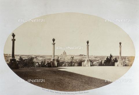 AVQ-A-000089-0039 - Photographic pictures of Rome: veduta di Roma dal Monte Pincio - Data dello scatto: 1862 - Raccolte Museali Fratelli Alinari (RMFA), Firenze
