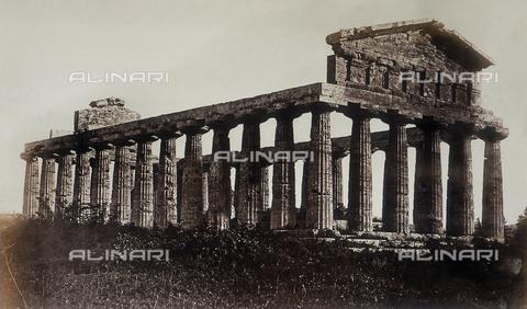 """AVQ-A-000089-0046 - """"Photographic pictures of Rome"""": il Tempio di Cerere a Paestum - Data dello scatto: 1862 - Raccolte Museali Fratelli Alinari (RMFA), Firenze"""