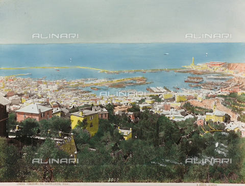 AVQ-A-000110-0067 - Panoramic view of Genoa from Castellaccio - Data dello scatto: 1880-1890 - Archivi Alinari, Firenze