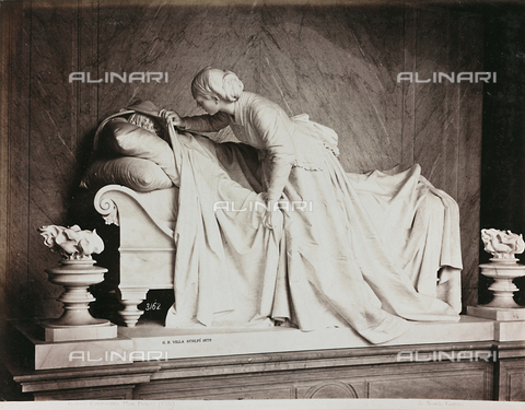 AVQ-A-000110-0079 - Monumento Pienovi, marmo, G.B. Villa, Cimitero Monumentale di Staglieno, Genova - Data dello scatto: 1880-1890 - Raccolte Museali Fratelli Alinari (RMFA), Firenze