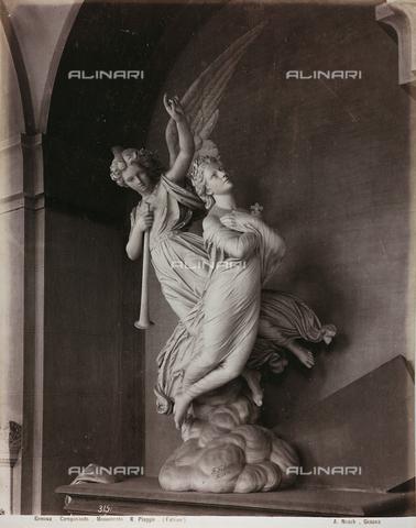 AVQ-A-000110-0081 - Monumento Piaggio, marmo, Fabiani, Cimitero Monumentale di Staglieno, Genova - Data dello scatto: 1880-1890 - Raccolte Museali Fratelli Alinari (RMFA), Firenze