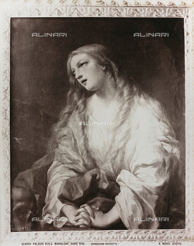 AVQ-A-000110-0092 - Penitent Magdalene, oil on canvas, Guido Reni (1575-1642), Gallery of the Royal Palace, Genoa - Data dello scatto: 1880-1890 - Archivi Alinari, Firenze