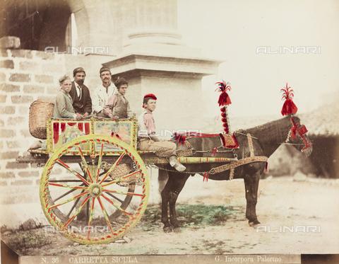 AVQ-A-000136-0005 - Carretto siciliano, Palermo - Data dello scatto: 1890 ca. - Raccolte Museali Fratelli Alinari (RMFA), Firenze