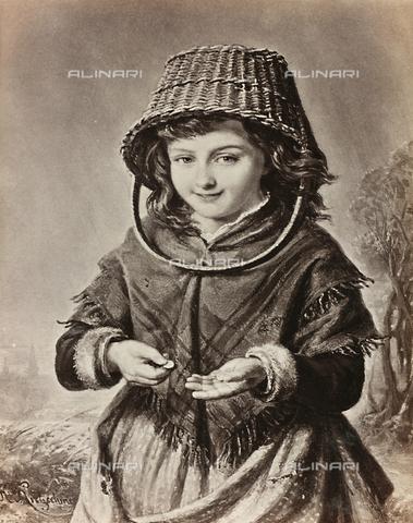AVQ-A-000144-0282 - Little girl counting money, painting by H. Kretzschmer
