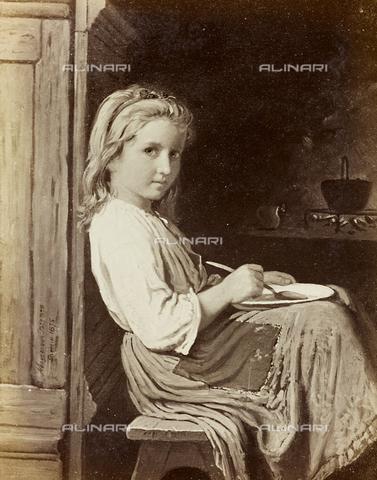 AVQ-A-000144-0405 - Little girl with a bowl, oil on canvas, Johann Georg Meyer known as Meyer von Bremen (1813-1886)