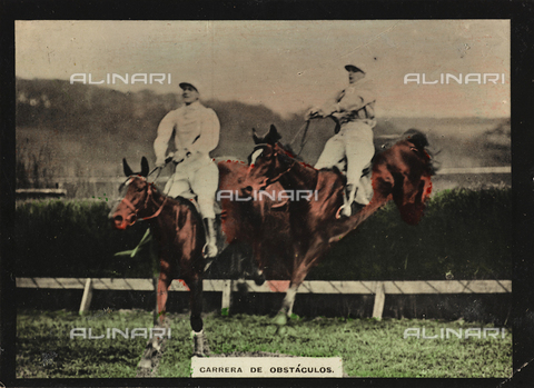 AVQ-A-000146-0106 - Two riders on horseback during an obstacle race