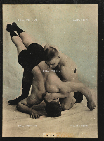 AVQ-A-000146-0108 - Two wrestlers in combat
