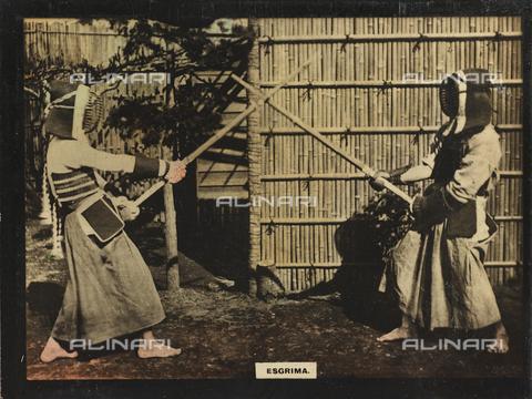 AVQ-A-000146-0115 - Two men practicing Kendo