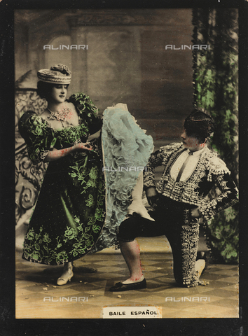 AVQ-A-000146-0123 - A man and a woman dancing a Spanish dance