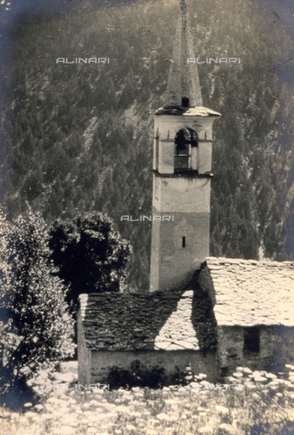 AVQ-A-000205-0015 - A small picturesque church in the mountains - Date of photography: 1931 ca. - Fratelli Alinari Museum Collections, Florence