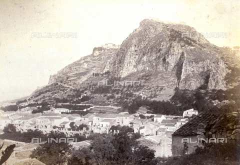 AVQ-A-000209-0005 - Panorama of Taormina, Italy - Date of photography: 1870-1890 ca. - Fratelli Alinari Museum Collections, Florence
