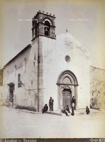 AVQ-A-000209-0021 - La Chiesa di Sant'Agostino a Taormina - Data dello scatto: 1870-1890 - Archivi Alinari, Firenze