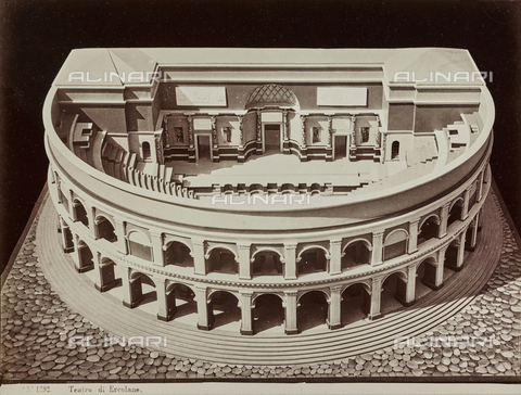 AVQ-A-000258-0045 - Model of the Theater of Herculaneum - Data dello scatto: 1880-1890 - Archivi Alinari, Firenze