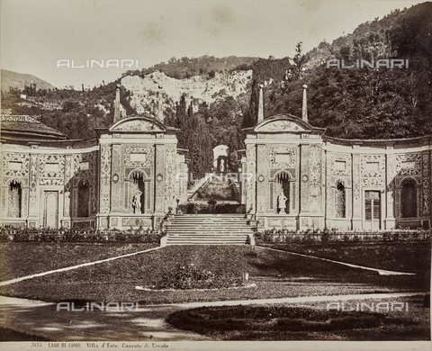 AVQ-A-000258-0053 - The waterfall of Ercole and the nymphaeum in the garden of Villa d'Este in Cernobbio on Lake Como - Date of photography: 1880-1890 - Fratelli Alinari Museum Collections, Florence