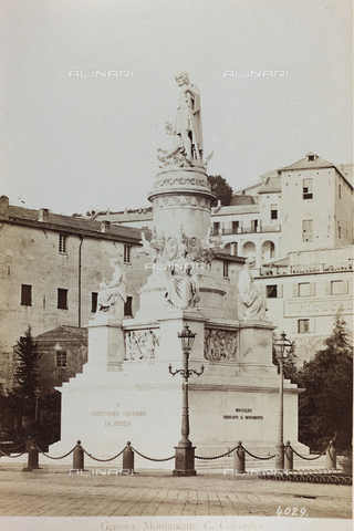 AVQ-A-000284-0003 - View of the monument to Cristopher Columbus in Piazza Acquaverde in Genoa - Data dello scatto: 1870-1890 - Archivi Alinari, Firenze