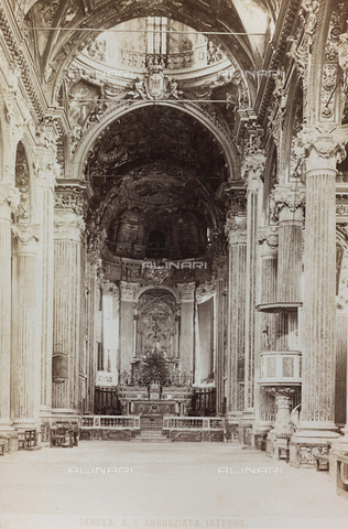 AVQ-A-000284-0004 - Inner view of the Church of the Santissima Annunziata, Genoa - Data dello scatto: 1870-1890 - Archivi Alinari, Firenze