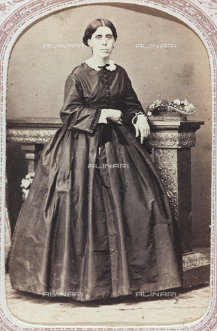 AVQ-A-000288-0055 - Portrait of Antonietta Celesia De Ferrari, founder of the Monastery of Perpetual Adoration in Genoa; carte de visite - Data dello scatto: 1870-1880 - Archivi Alinari, Firenze