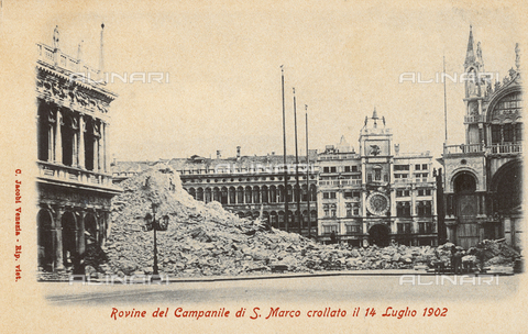 AVQ-A-000328-0023 - Ruins of the Campanile of San Marco in Venice, which fell in July, 1902