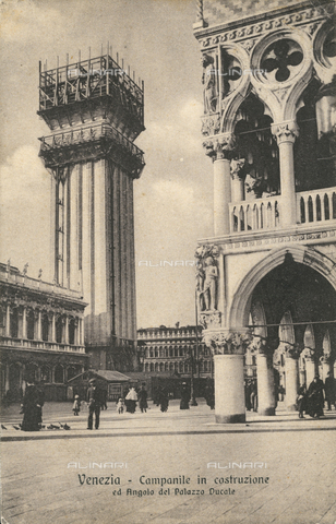 AVQ-A-000328-0024 - Reconstruction of the Campanile of San Marco in Venice, which fell in July, 1902