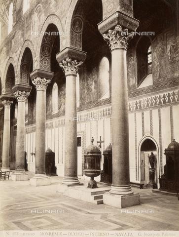 AVQ-A-000424-0083 - Interno del Duomo di Monreale - Data dello scatto: 1880 ca. - Raccolte Museali Fratelli Alinari (RMFA), Firenze
