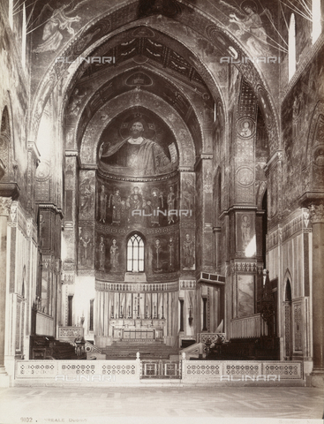 AVQ-A-000424-0086 - Interior of the Duomo of Monreale - Data dello scatto: 1880 ca. - Archivi Alinari, Firenze