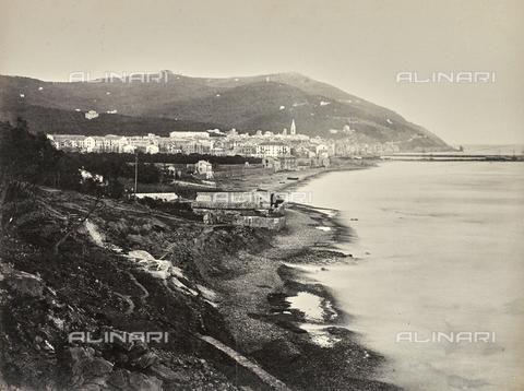 """AVQ-A-000439-0009 - Album """"La Corniche - Italie 1871-1876"""": view of Oneglia - Data dello scatto: 1871-1876 - Archivi Alinari, Firenze"""