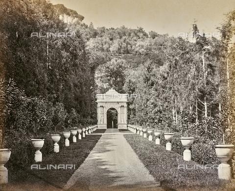 """AVQ-A-000439-0033 - Album """"La Corniche - Italie 1871-1876"""": park of Villa Durazzo Pallavicini in Pegli - Data dello scatto: 1871-1876 - Archivi Alinari, Firenze"""
