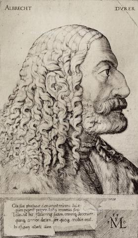AVQ-A-000493-0001 - Ritratto di Albrecht Durer, incisione - Data dello scatto: 1861 - Raccolte Museali Fratelli Alinari (RMFA), Firenze
