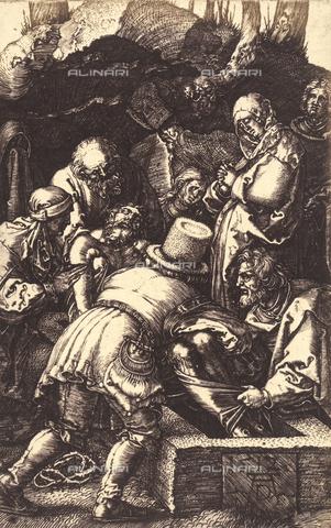 AVQ-A-000493-0017 - Incisione di Albrecht Durer raffigurante la Deposizione di Cristo nel Sepolcro - Data dello scatto: 1861 - Raccolte Museali Fratelli Alinari (RMFA), Firenze