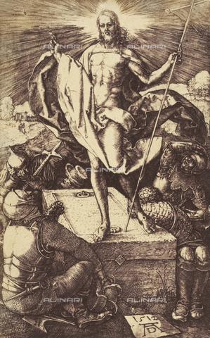 AVQ-A-000493-0019 - Incisione di Albrecht Durer raffigurante la Resurrezione di Cristo - Data dello scatto: 1861 - Raccolte Museali Fratelli Alinari (RMFA), Firenze