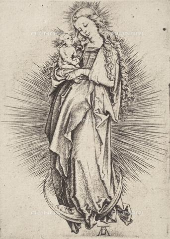 AVQ-A-000493-0032 - Incisione di Albrecht Durer raffigurante Maria Vergine col Bambino - Data dello scatto: 1861 - Raccolte Museali Fratelli Alinari (RMFA), Firenze