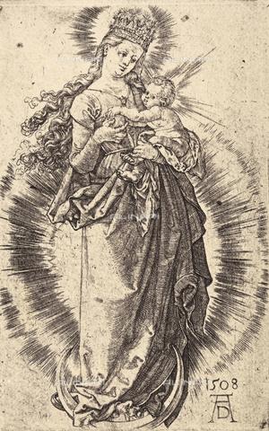 AVQ-A-000493-0033 - Incisione di Albrecht Durer raffigurante Maria Vergine incoronata col Bambino - Data dello scatto: 1861 - Raccolte Museali Fratelli Alinari (RMFA), Firenze