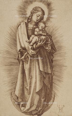 AVQ-A-000493-0035 - Incisione di Albrecht Durer raffigurante Maria Vergine col Bambino - Data dello scatto: 1861 - Raccolte Museali Fratelli Alinari (RMFA), Firenze