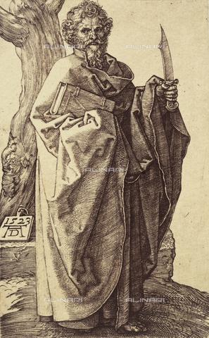 AVQ-A-000493-0049 - Apostolo Bartolomeo, incisione di Albrecht Durer - Data dello scatto: 1861 - Raccolte Museali Fratelli Alinari (RMFA), Firenze