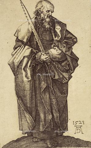 AVQ-A-000493-0051 - San Simone, incisione di Albrecht Durer - Data dello scatto: 1861 - Raccolte Museali Fratelli Alinari (RMFA), Firenze