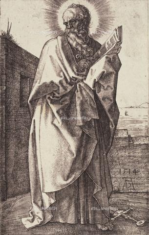 AVQ-A-000493-0052 - San Paolo, incisione di Albrecht Durer - Data dello scatto: 1861 - Raccolte Museali Fratelli Alinari (RMFA), Firenze