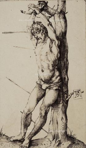 AVQ-A-000493-0057 - San Sebastiano, incisione di Albrecht Durer - Data dello scatto: 1861 - Raccolte Museali Fratelli Alinari (RMFA), Firenze